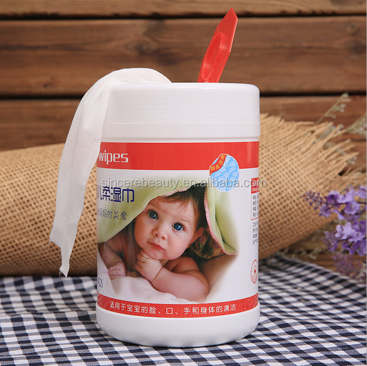 Barrel baby wipes/120pcs Wood pulp non-woven wipes