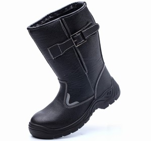 China Wholesale Genuine Leather PU Outsole Steel Toe Safety Shoes Boots