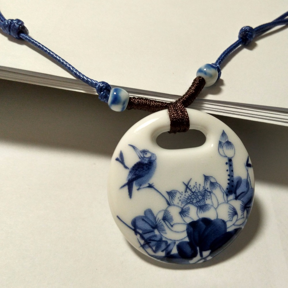 Ceramic Necklace Pendants New Fashion Vintage Handmade