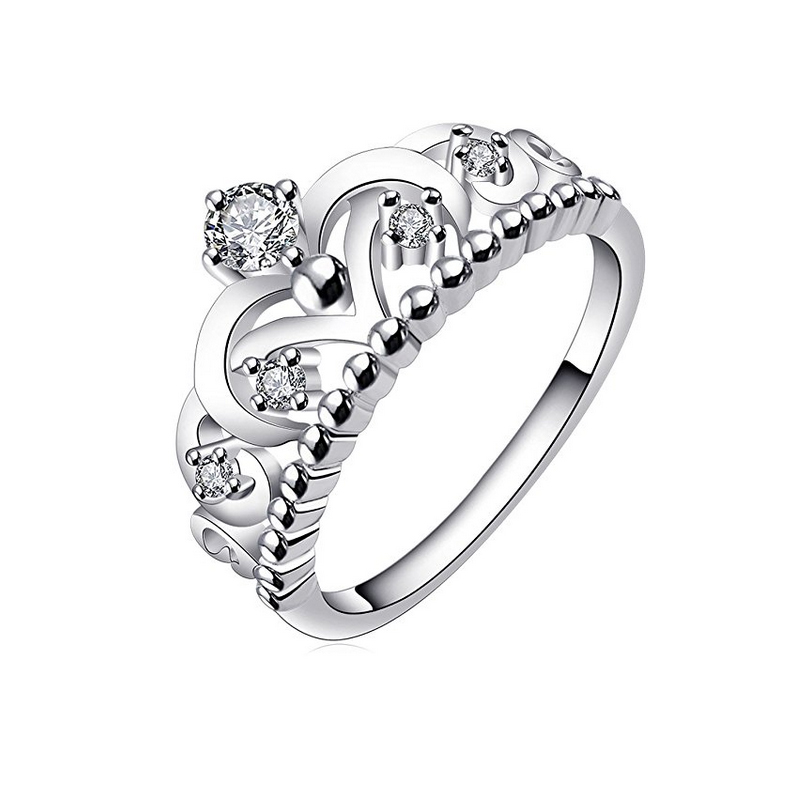 best selling products hot sex man woman crown silver diamond wedding rings