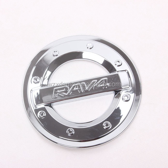 2014 RAV4 SUVS FUEL OIL GAS TANK COVER ACCESSORIES 14 ABS CHROME CAR AUTO ACCESSORIES