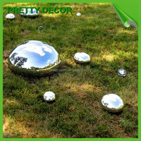 Lawn Garden Decorations Stainless Steel Oblong Balls