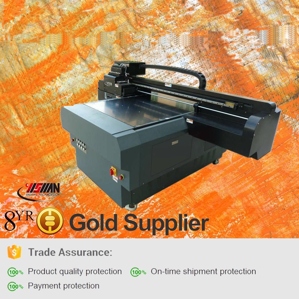 Kecil Format Inkjet Flatbed Label Printer Mesin Untuk Kasus Ponsel Cetak Stiker Smart Kartu Vinyl