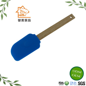HIMI Custom silicone butter spatula for cream silicon spatula with wooden handle for cooking