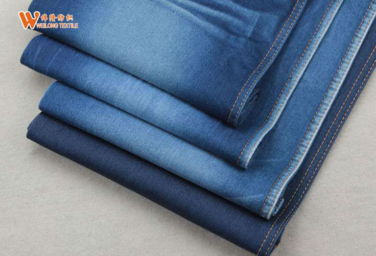 B2050 hot sell non slub cotton/poly yarn low price jeans stretch car seat cover fabric