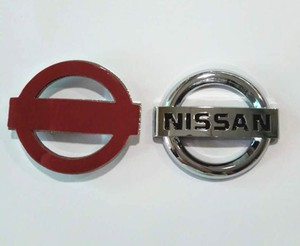Auto Custom Plastic Silver Chrome Logo 3D Car Emblem