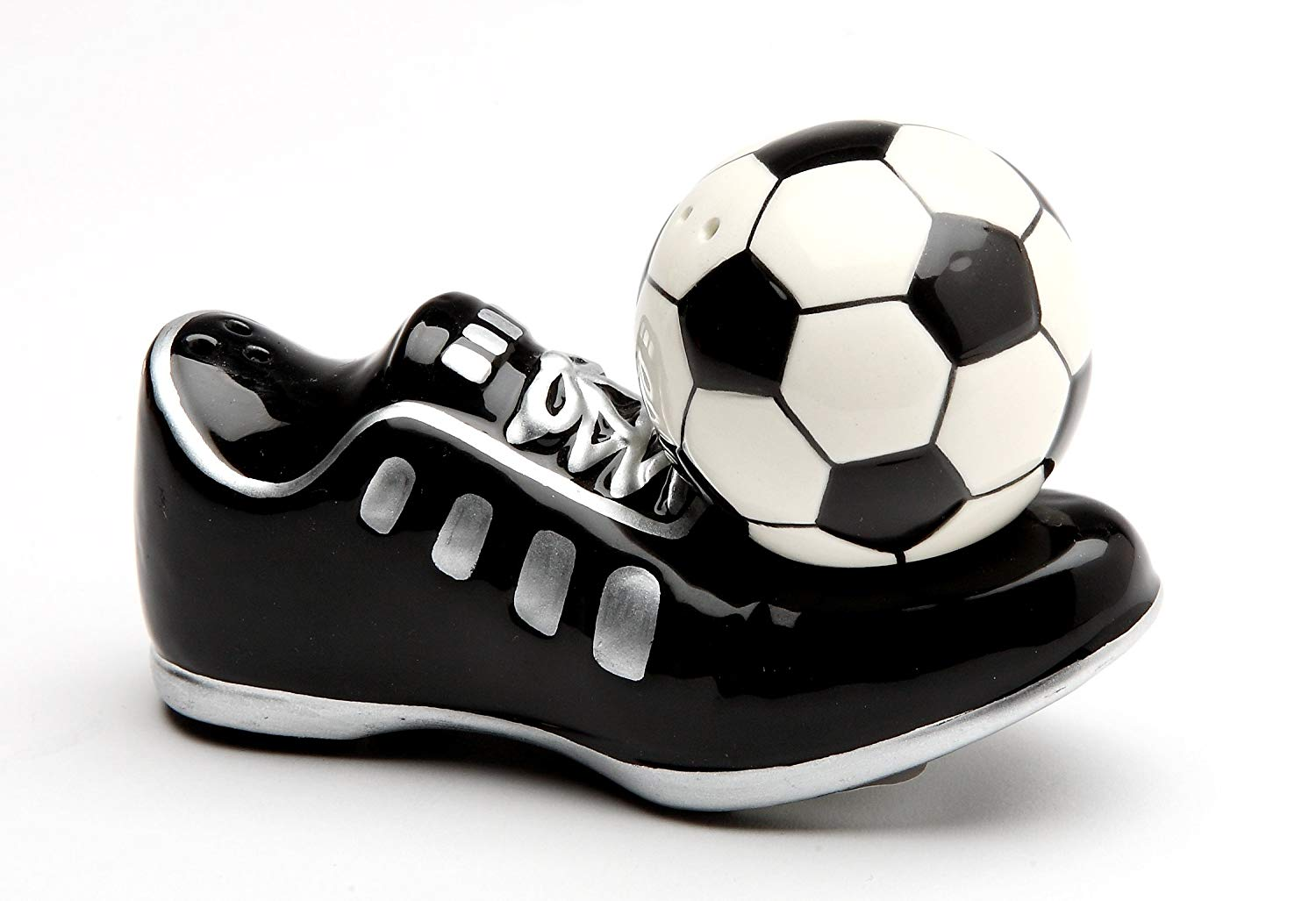 552e81d8db2b Get Quotations · Cosmos Gifts 10466 Soccer Shoes and Soccer Ball Salt and  Pepper Shakers