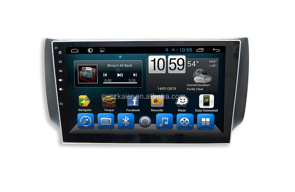 Android Quad core car GPS navigation for Sylphy bluebird/ Sentra Full touch screen with GPS/Wifi/3G/Bluetooth