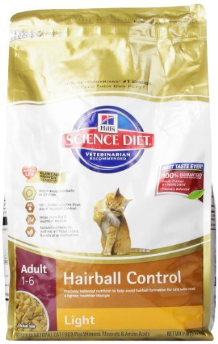 Hill's Science Diet Adult Light Hairball Control Dry Cat Food, 7-Pound Bag by Hill's Science Diet Cat