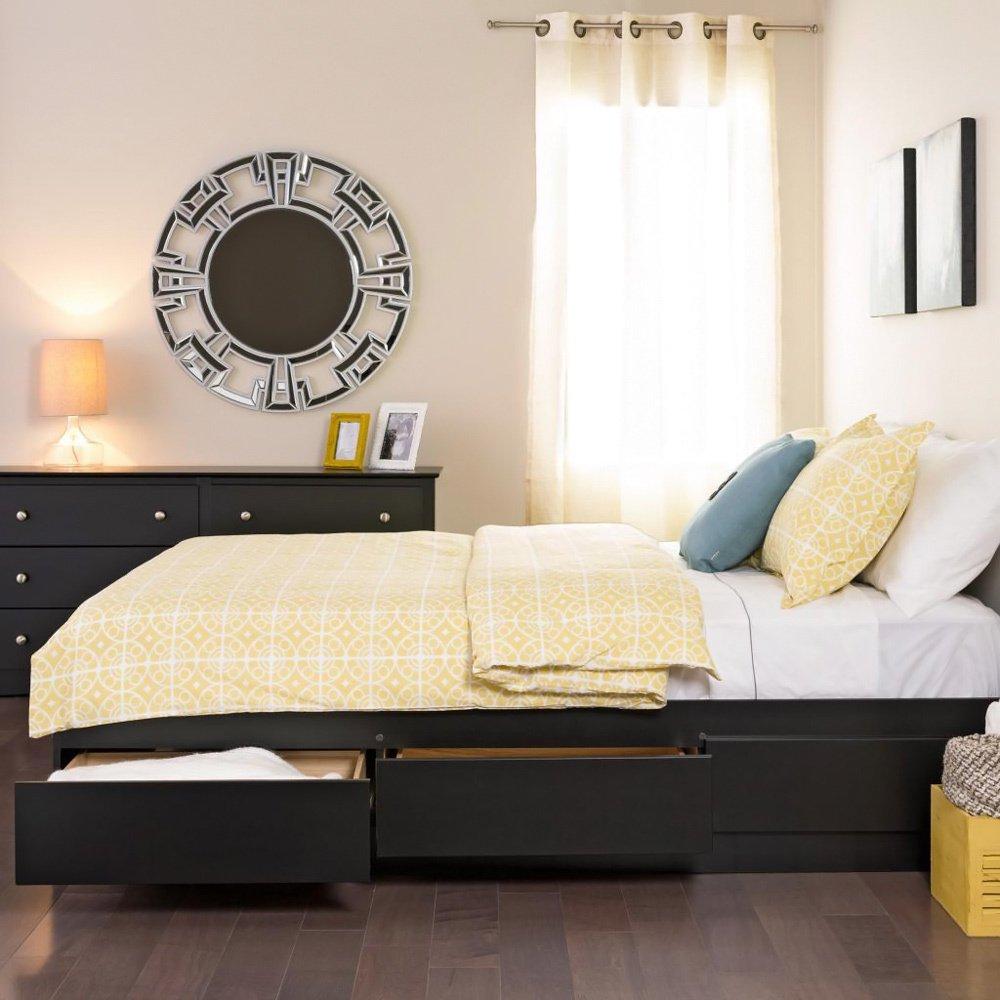 Metro Shop Yaletown Black Double Full 6 Drawer Platform Storage Bed