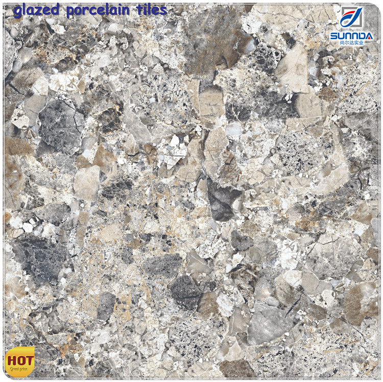 polished glazed marble tile shandong, bathroom tile 3d inkjet glazed ceramic porcelain floor tile