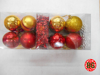 Custom plastic Christmas ball set mixed for European Christmas decoration