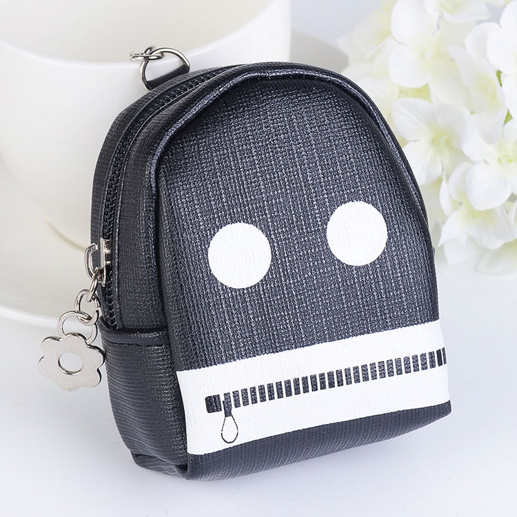 Emoji pouch coin wallet key chain Key ring Bag charm