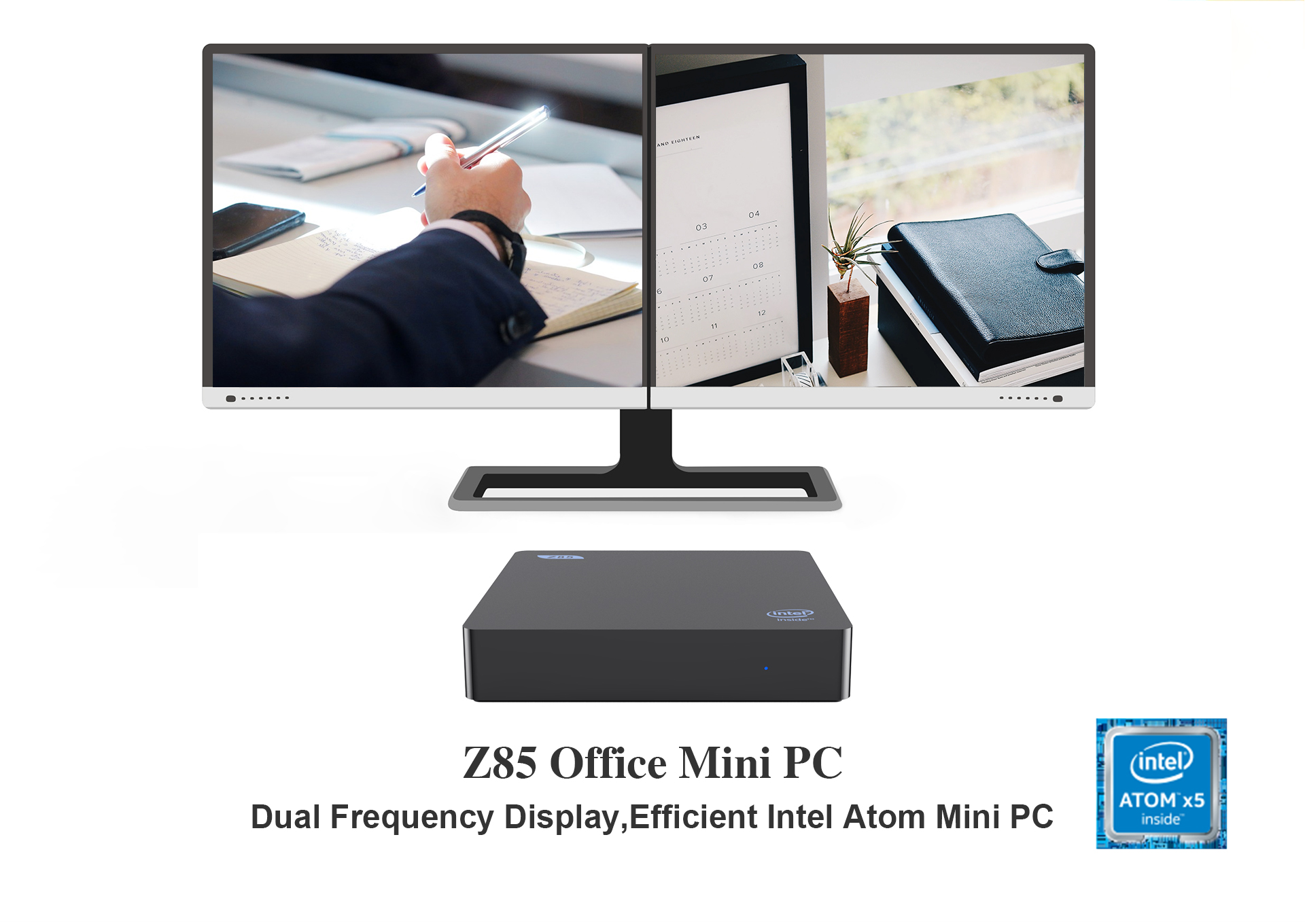 Factory Direct Intel Atom z8350 Mini PC Z85 Windows10 Dual Band Wifi 2gb ram 32gb rom