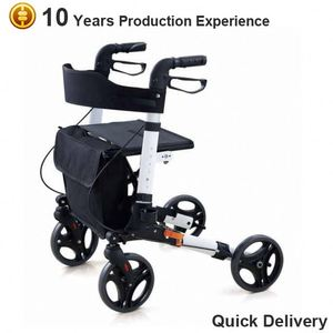 Aluminum electric rollators with seat for old people