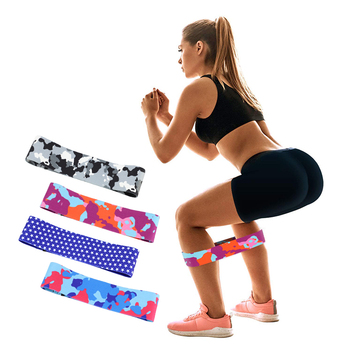 2019 New Design 20 Colors Premium Quality Customized 3 Resistance Levels Pink Camouflage Exercise Bands Elastic Hip Circle Bands