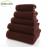 U-HomeTalk UT-TJ046 Cheap Boutique Egyptian Cotton Hand Towels /Coffee Cotton Dobby Hand Towel / Brown Hand Towel 100% Cotton