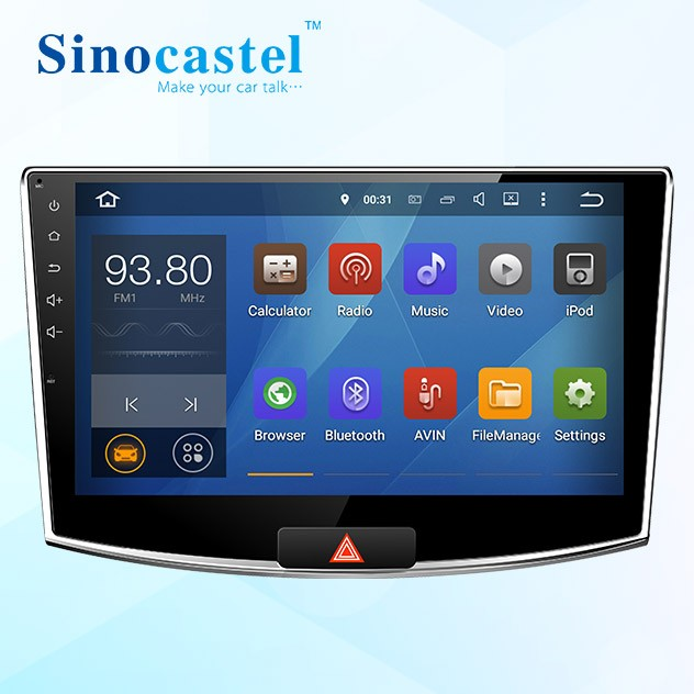 "1 DIN 4-core Android Car DVD Player with GPS for VW Magotan 2015, 10.1"" Multi-touch screen, 1024*600 HD Resolution"