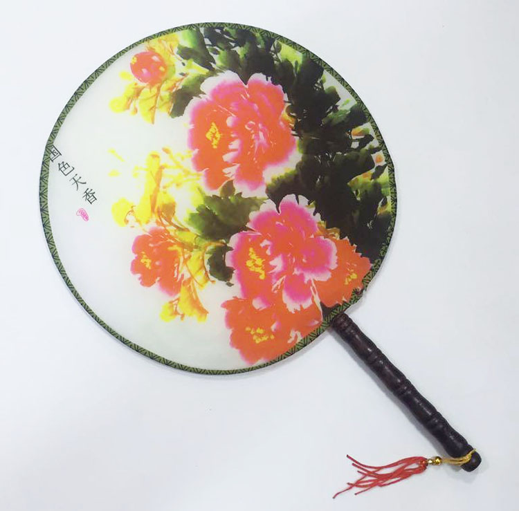 Elegant Vintage Dancing Fan Chinese Traditional Round Polyester Palace Hand Fan Stage Perform Props Home Room Decoration Gift