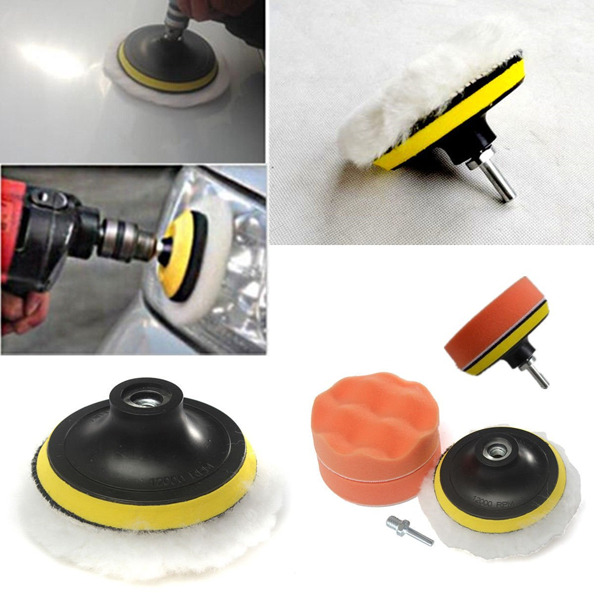 Abrasive Tools Learned 3pcs Car Polishing Sponge Pads Waxing Buffing Pad Foam Kit Set For Car Polisher Buffer Sander Polishing Waxing Sealing Glaze Carefully Selected Materials