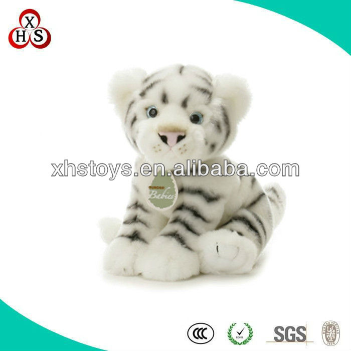 Hot cute baby plush toy sitting tiger/white tiger