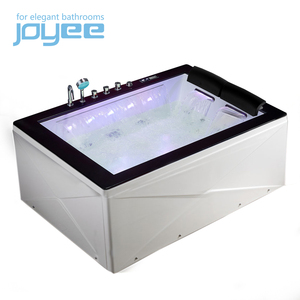 Joyee balcony hot tub 2 person jetted tub shower combo indoor hot tub