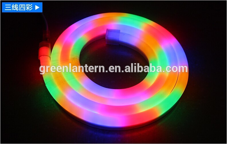 CE RoHS approval and waterproof RGB LED neon tube light neon flex light flexible rope
