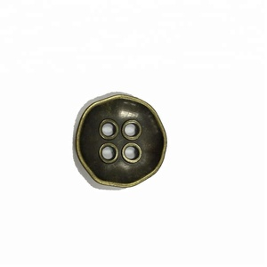 China Factory custom logo metal 4-Holes Shirt Button sewing button For Shirt