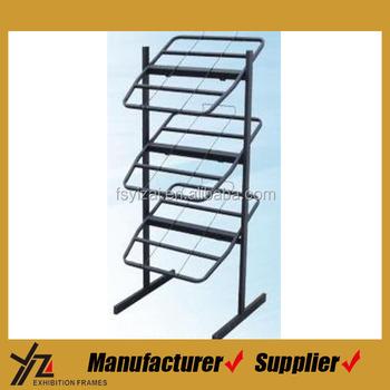 3 Layers Free Standing Rug Rack/Metal Rug Display Rack