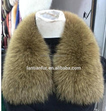 Women's Genuine Fox Fur Collar Scarf Shawl Wrap Attach For Coat & Parka