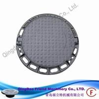 FM-M-DN600D400 Round Manhole cover and frame cast iron circular manhole cover EN124 D400