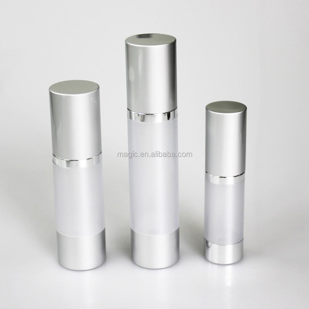 15/30/50/80/100ml aluminium airless bottles for cosmetics