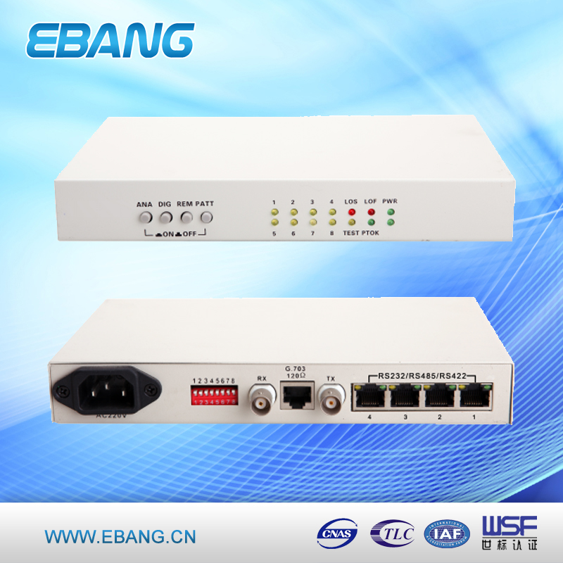 E1 to 4*RS232/ RS485/ RS422 Protocol Converter