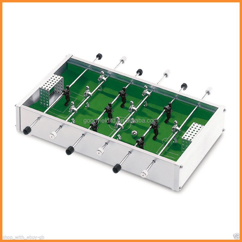 hot sold mini Alu. table top football game set(GYTF01001)