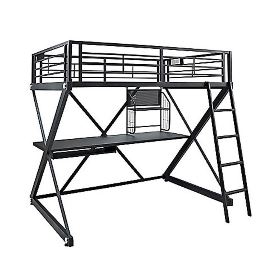pas cher z chambre cadre m tallique enfants tude loft lits lit mezzanine avec bureau lit en. Black Bedroom Furniture Sets. Home Design Ideas