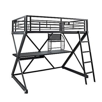 Cheap Z-bedroom Metal Frame Kids Study Loft Beds,Loft Bed With Desk ...
