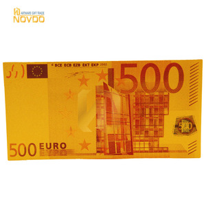 World Collection banknotes pure Gold Foil 500 Euro Banknote