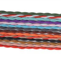 H03VV-F 2X0.75MM2 CU pure copper colored fabric coated woven braided power wire
