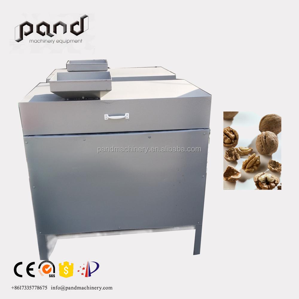 American walnuts cracking/breaking machine steel pecan nut cracker and  sheller