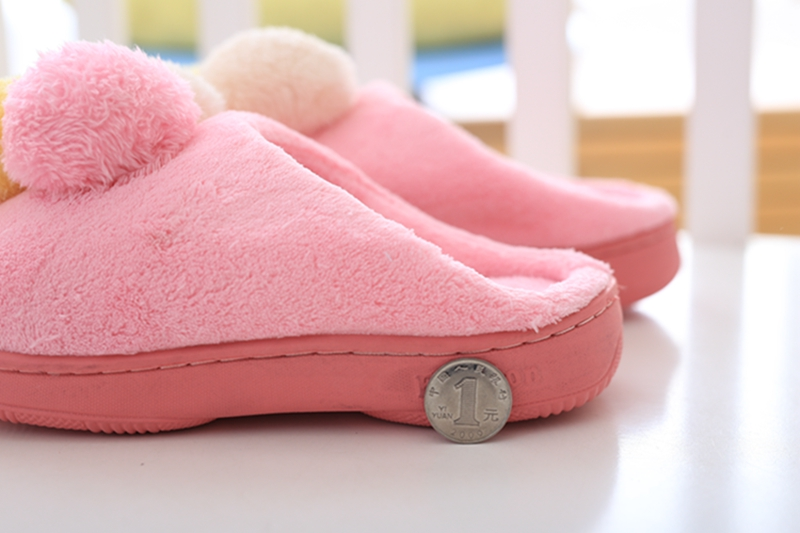 China Factory  Cheap Wholesale Plush Toys Cut Indoor Ice Cream Slipper