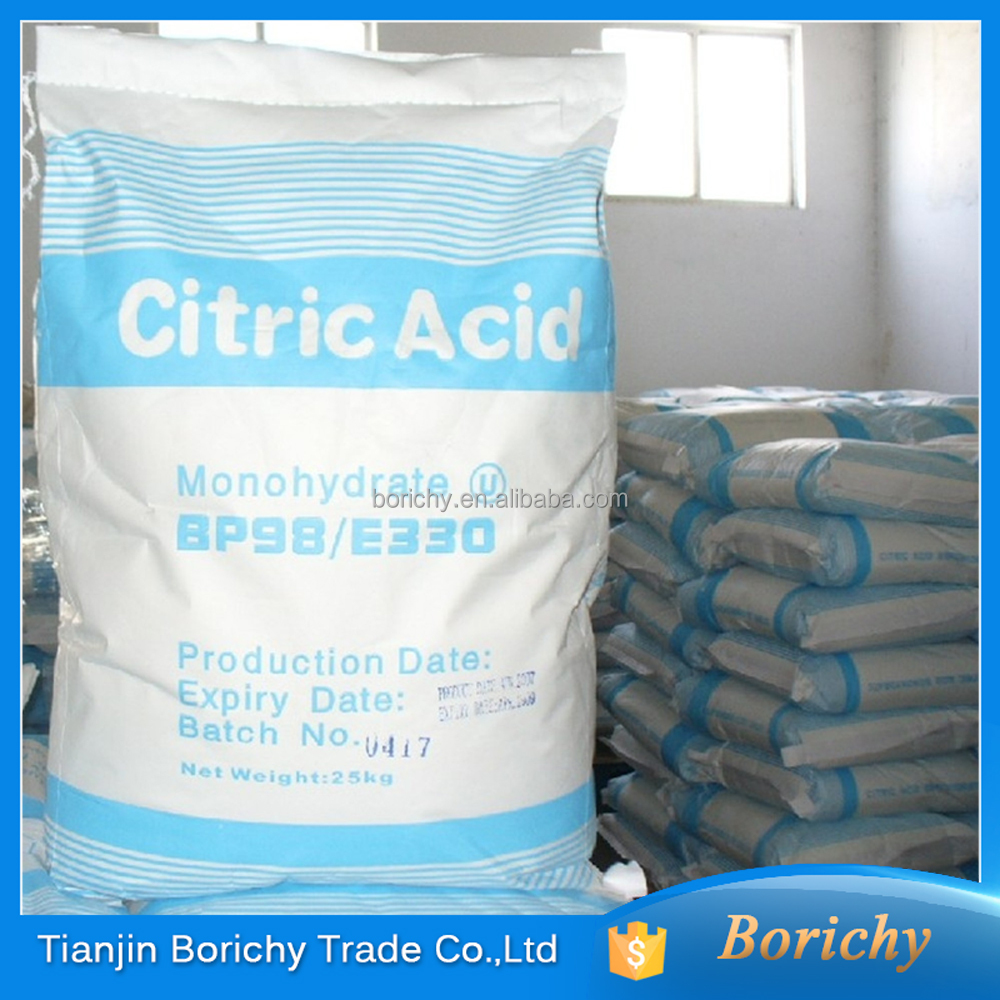 Food grade citric acid monohydrate USP/BP Antioxidants E330