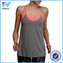 Yihao hot girl sexy tank top spandes cotton camisole yogo wear custom crop top