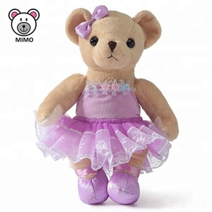 Beautiful Purple Dress Teddy Bear Doll Plush Toy With Tutu Skirt Cheap Wholesale Custom Stuffed Soft Toy Baby Teddy Bear Plush