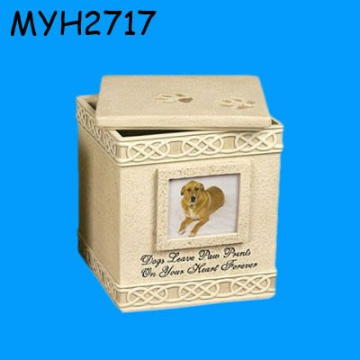 small photoframe Dog Paw Prints cremation urn