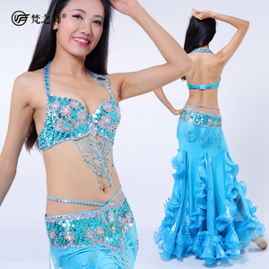 GT-1080 Factory wholesale lady beaded tribal belly dance outfit