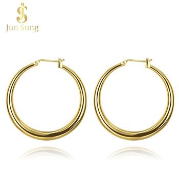 Fashion Jewellery Hoop Huggie 18k Gold Plated Earrings for Women and Girls
