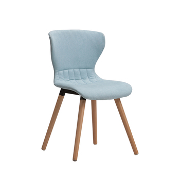 Modern Design Armless Side Chair With Wooden Leg For Wholesale Restaurant