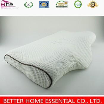 butterfly shaped panda bamboo memory foam pillow