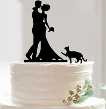 Queena Wedding Customized Accessories Bride and Groom Silhouette Cake Topper