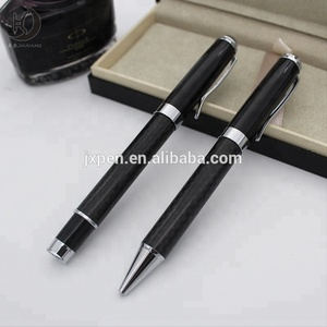 mq-c25 High quality classic style heavy gift wedding carbon fiber pen with custom logo ballpoint pen